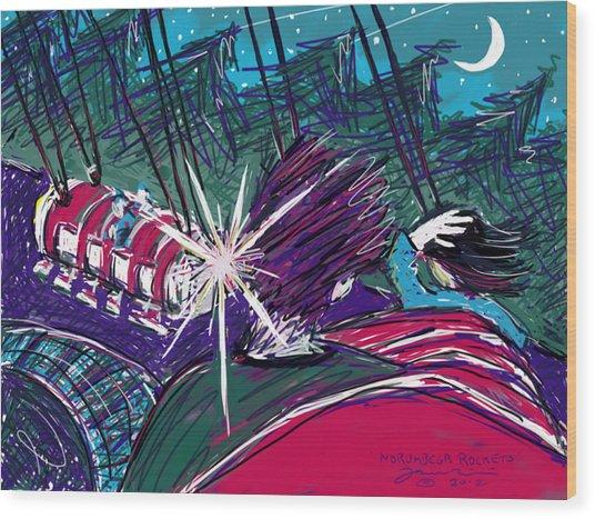 Norumbega Rockets Wood Print