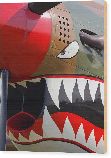 Nose Art I Wood Print