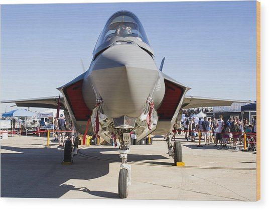 Nose To Nose With An F-35 Wood Print