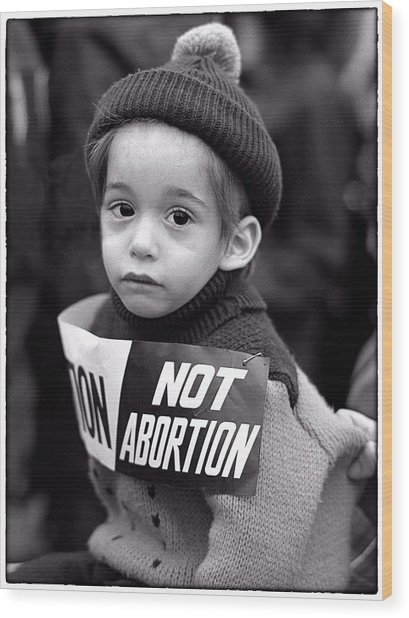 Not Abortion Wood Print by Hal Norman K