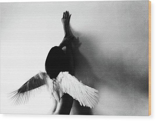 Not Fly Wood Print by Keisuke Ikeda @
