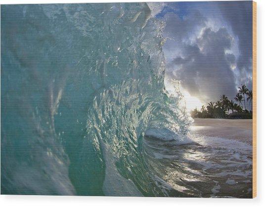 Coconut Curl Wood Print