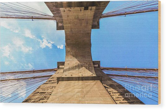 Nothin But Blue Skies Brooklyn Wood Print