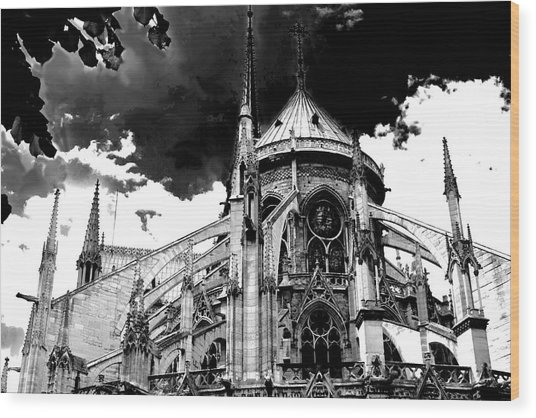 Notre Dam Revealed By Denise Dube Wood Print