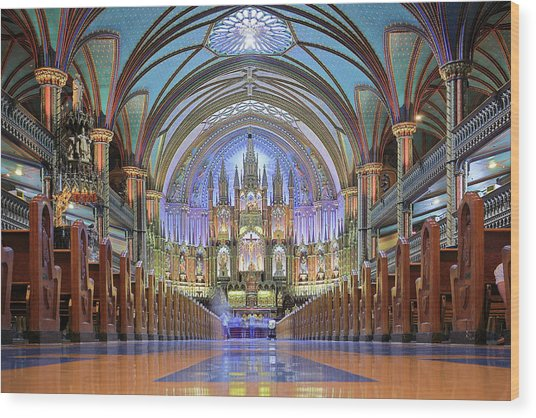 Notre Dame Basilica - Montreal Wood Print