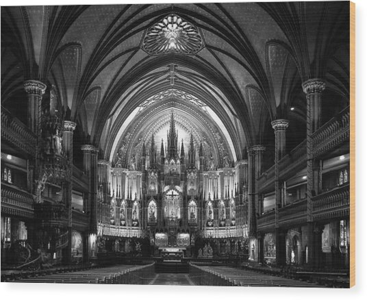 Notre-dame Basilica Of Montreal Wood Print by C.s. Tjandra
