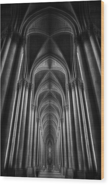 Notre-dame Catha?dral Wood Print by Oussama Mazouz
