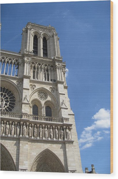 Notre Dame Cathedral Paris Tower Wood Print by Stephanie Hunter