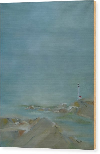 Nova Scotia Fog Wood Print