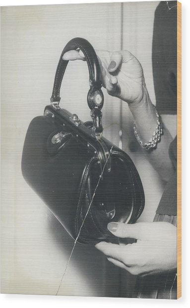Novelty In Lady Bags Wood Print by Retro Images Archive