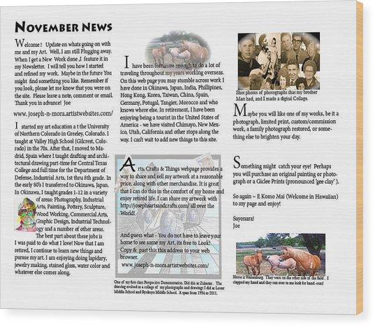 November News Wood Print