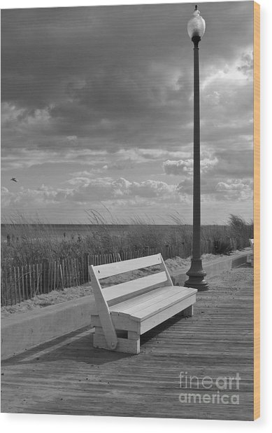 November On The Boardwalk Wood Print