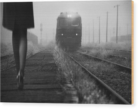 November Passengers Wood Print