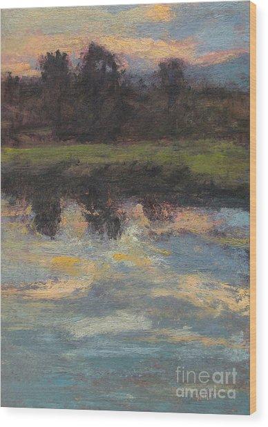 November Reflection - Hudson Valley Wood Print by Gregory Arnett