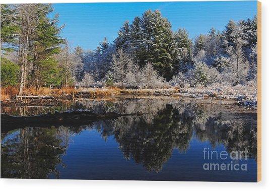 November Snow Wood Print