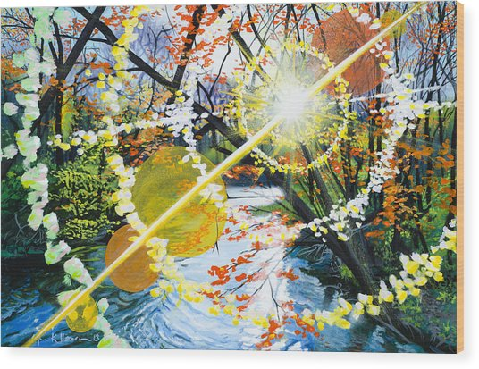 The Glorious River Wood Print