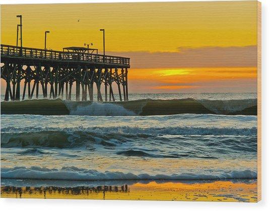 November Surf Wood Print