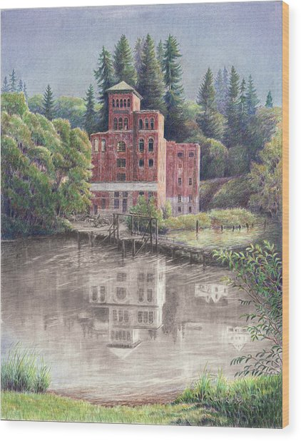 Now And Then - Old Olympia Brewery Wood Print