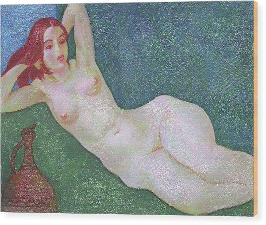 Nu 13 Wood Print by Leonid Petrushin