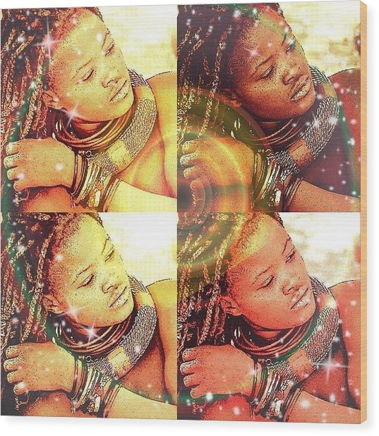 Nubian Beauty Wood Print