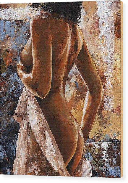 Nude 07 Wood Print