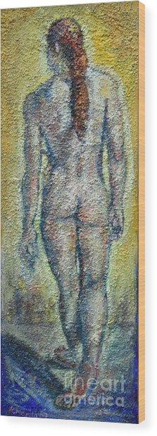 Nude Brunet Wood Print