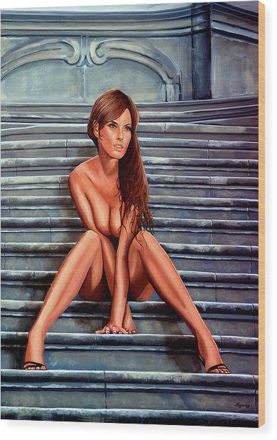 Nude City Beauty Wood Print