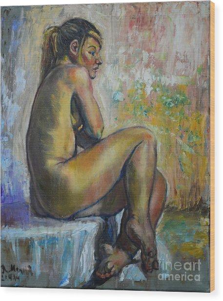 Nude Eva 1 Wood Print