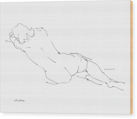 Nude Female Drawings 9 Wood Print