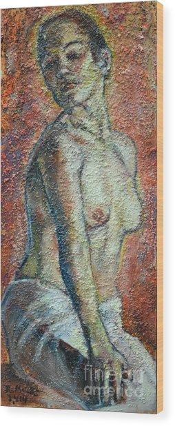 Nude Lisbeth Wood Print