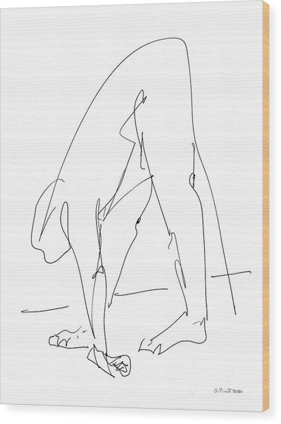 Nude Male Drawings 32 Wood Print