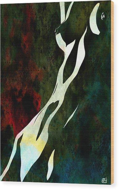 Nude Number Nine Wood Print
