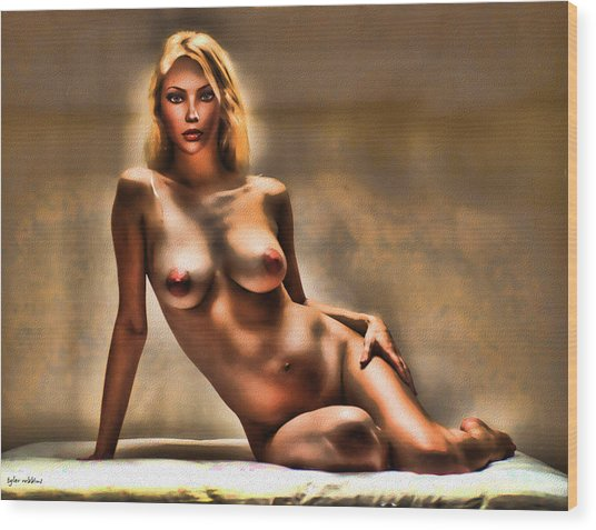 Nude Reclining Wood Print