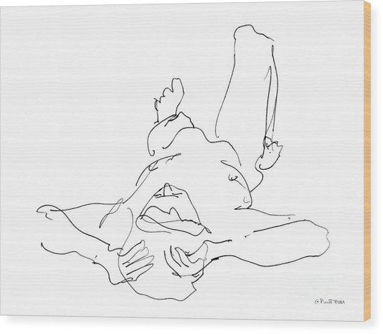 Nude_male_drawings-22 Wood Print