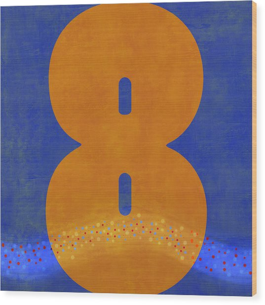 Number Eight Flotation Device Wood Print