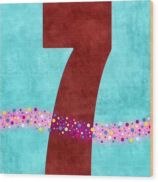 Number Seven Flotation Device Wood Print