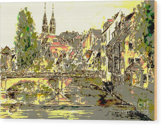 Nuremberg View To St.laurence Church Wood Print by Almo M