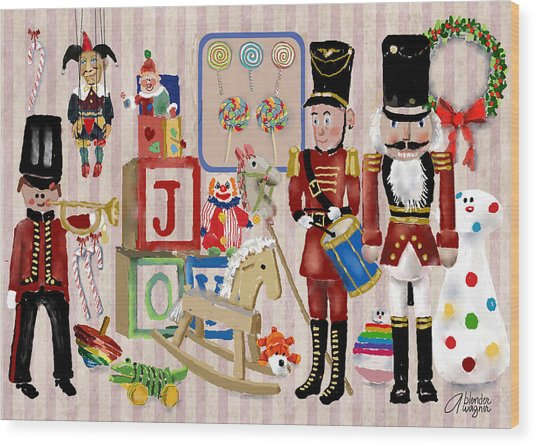 Nutcracker And Friends Wood Print