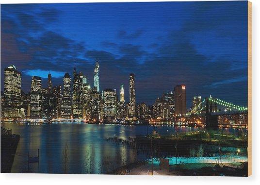 Ny Skyline From Brooklyn Heights Promenade Wood Print