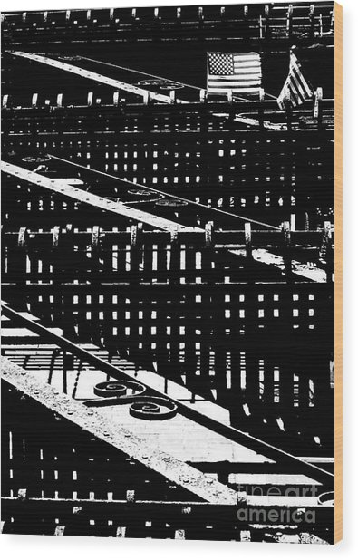 Nyc Fire Escape Wood Print