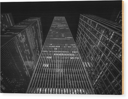 Nyc Forefront Wood Print