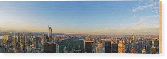 Nyc Panorama Wood Print