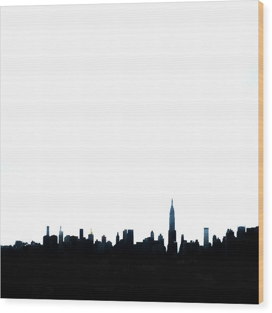 Nyc Silhouette Wood Print