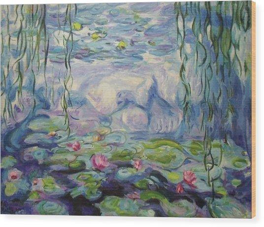 Nympheas Apres Monet Wood Print