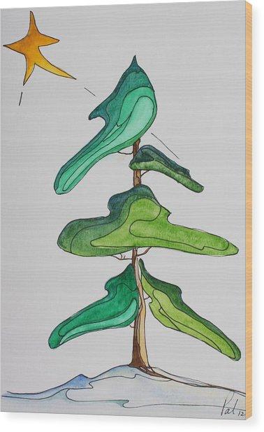 O Christmas Tree Wood Print