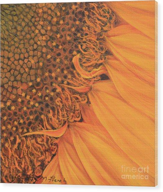 O Sunflower Wood Print