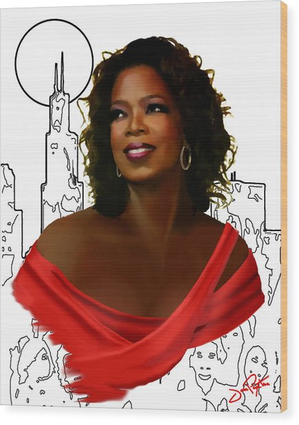 O Town Oprah Wood Print