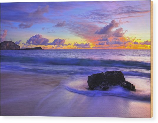 Oahu Sunrise Wood Print