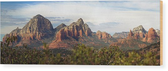 Oak Creek Canyon Sedona Pan Wood Print