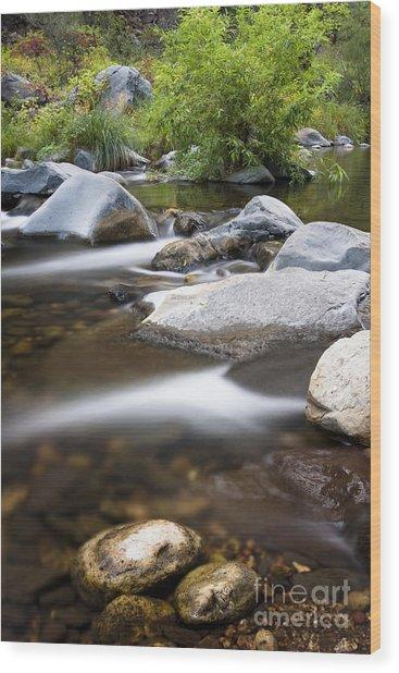 Oak Creek Flowing Wood Print